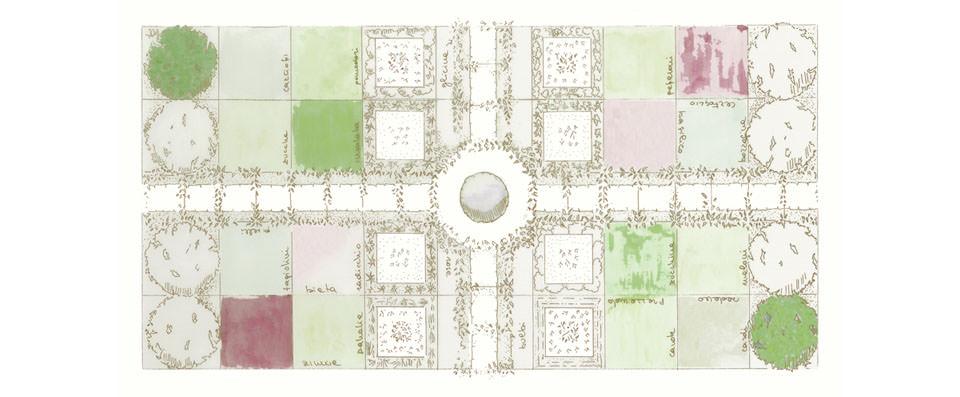 Design: Orto concluso di Francesca Paolucci  Stampato su lino voile per tovaglie - design : Orto concluso by Francesca Paolucci Printed on linen voile for tablecloths