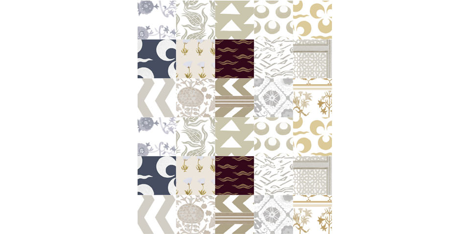 Imperial Patchwork in all over Neutral