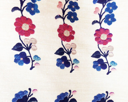 BALCANIC FLOWER BLUE SILK