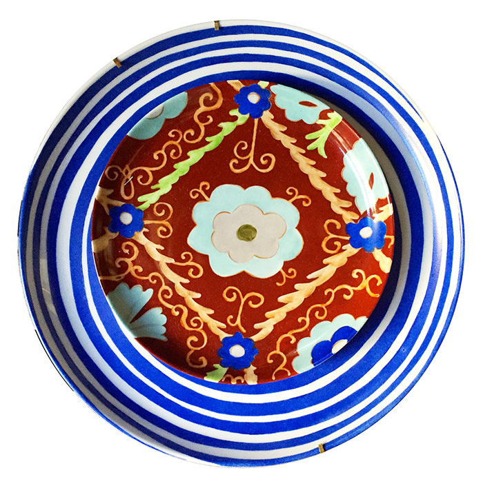 SUZANI RED PLATE 700PX