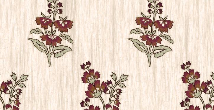 flower in the snow purple linen