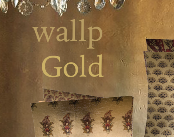new GOLD's on gold leaf wallpaper