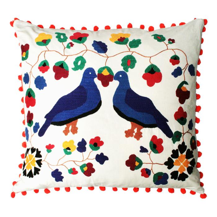 cuscino uccelli