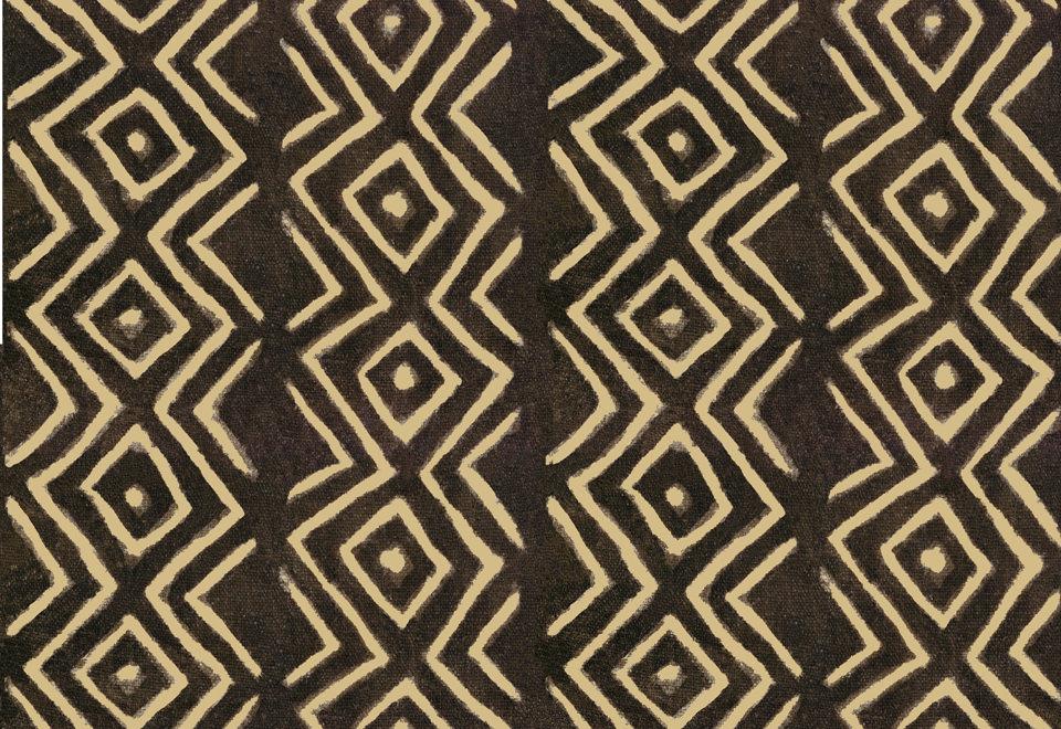 Design Africa: da un antico tessuto africano è stato creato un disegno a repeat. Tessuto stampato. - Africa Design: from an ancient African fabric was created a repeat pattern. Printed fabric.