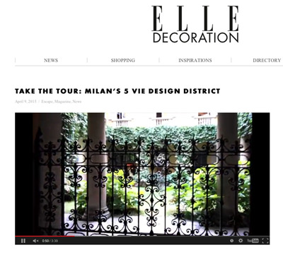 Arjumand & 5 Vie District Milano  Elle Deco Uk  Video