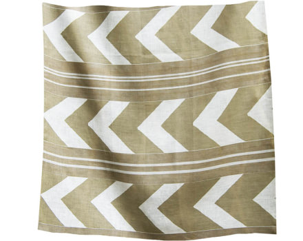 herringbone neutral linen