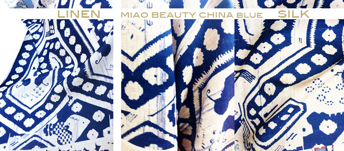 miao beauty china blue