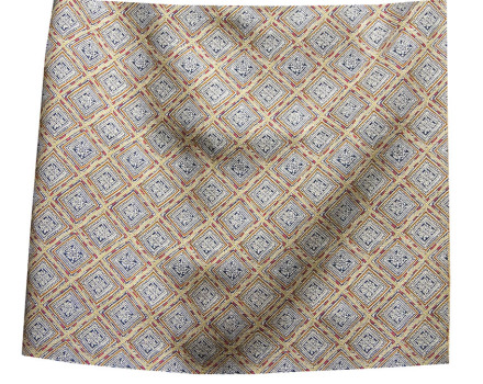 Miao Squares cool linen and wool linen silk