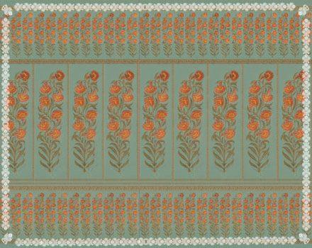Raj Flower Turquoise