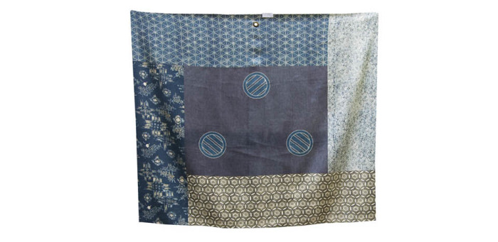 The Japan Blue Collection - Lana, Lino, Seta - Wool, Linen, Silk - Telo Campionario/Sample Scarf